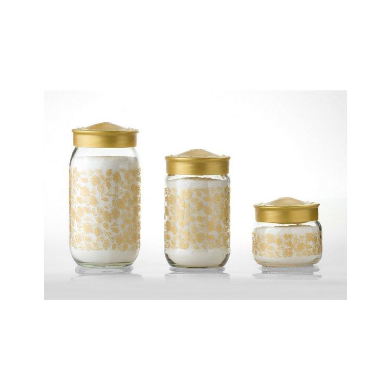 Herevin Dekorglas Gold 720 Ml Glasdose Glasdeko Deko Glas