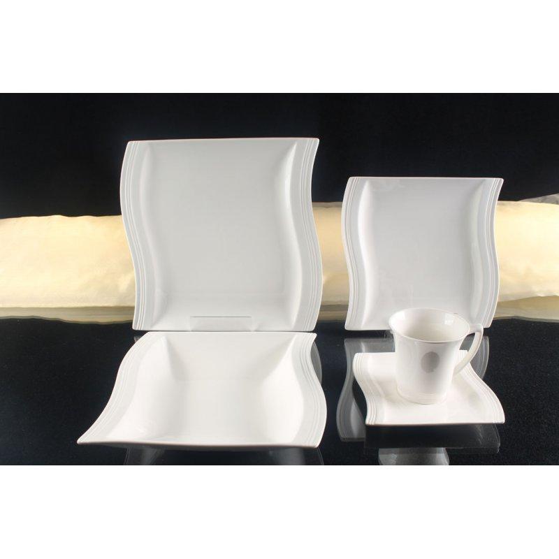 schillerbach tafelservice weiss 6 personen porzellan essservice gesc. Black Bedroom Furniture Sets. Home Design Ideas