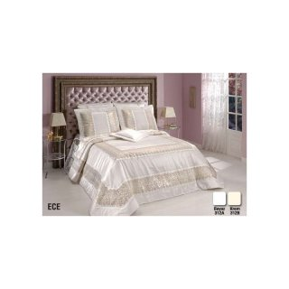 diley bettdecke creme 4tlg tagesdecke bett berwurf set 260x260 n. Black Bedroom Furniture Sets. Home Design Ideas