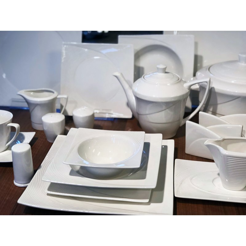 schillerbach tafelservice weiss 12 personen porzellan essservice ges. Black Bedroom Furniture Sets. Home Design Ideas