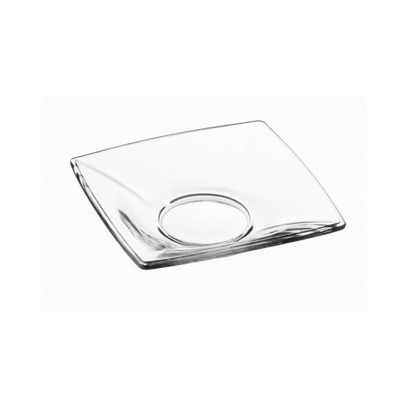 Unterteller 6er Cay platte glas Untersetzer